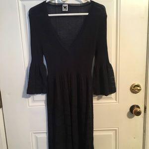 missoni bell sleeve knit dress